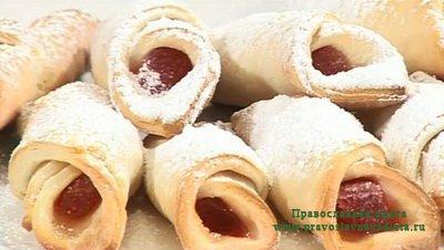 Печенье с мармеладом постное