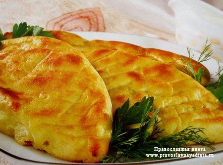 Пирожки картофельные с рыбой
