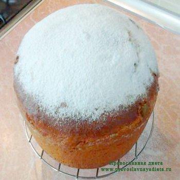 Кулич ванильный с сахаром