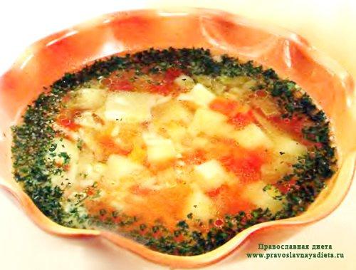 Постный суп из щавеля