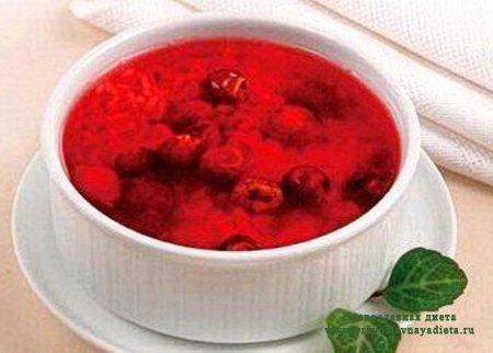 Холодный сладкий суп